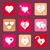 set of heart icons flat design stock photo © trikona