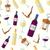 vinho · branco · vinho · tinto · projeto · papel - foto stock © TRIKONA