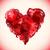 absztrakt · piros · fényes · rózsa · szív · virág - stock fotó © trikona