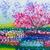 festmény · citromsárga · mező · ecset · virág · tavasz - stock fotó © tungphoto