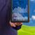 tablet · virtuale · mappa · del · mondo · grafici · linee · blu - foto d'archivio © tungphoto