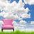 blauwe · hemel · houten · vloer · hemel · frame · zomer · Blauw - stockfoto © tungphoto