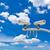 megfigyelés · fényképezőgépek · cctv · égbolt · televízió · technológia - stock fotó © tungphoto