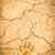 amprenta · usuce · crăpa · sol · plajă · textură - imagine de stoc © tungphoto