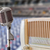 vintage microphone and radio stock photo © tungphoto