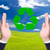 ビジネスマン · 手 · リサイクル · にログイン · 緑 · 世界 - ストックフォト © tungphoto