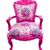pink luxury armchair isolated with clipping path stock photo © tungphoto