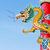 dragon statue in chinese temple stock photo © tungphoto