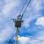 elektrische · paal · achtergrondverlichting · bewolkt · hemel - stockfoto © tungphoto