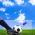 ногу · съемки · футбольным · мячом · цель · штраф · Футбол - Сток-фото © tungphoto