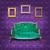 Purple · Председатель · синий · интерьер · стены - Сток-фото © tungphoto