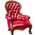 красный · кожа · кресло · стены · текстуры - Сток-фото © tungphoto