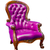 luxury purple leather armchair stock photo © tungphoto