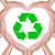 recycle sign in hand heart stock photo © tungphoto
