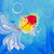 painting of goldfish in water stock photo © tungphoto