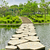 stone walkway on water in the park stock photo © tungphoto