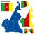 Kameroen · vector · ingesteld · gedetailleerd · land · vorm - stockfoto © tuulijumala