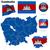 Камбоджа · официальный · флаг · дизайна · Мир · знак - Сток-фото © tuulijumala