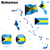 Багамские · острова · вектора · набор · подробный · стране · форма - Сток-фото © tuulijumala