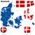 Дания · вектора · набор · подробный · стране · форма - Сток-фото © tuulijumala