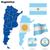 Argentinië · vector · ingesteld · gedetailleerd · land · vorm - stockfoto © tuulijumala