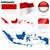 Indonesië · vector · ingesteld · gedetailleerd · land · vorm - stockfoto © tuulijumala