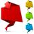 origami · ingesteld · gevouwen · papier · tekstballon · abstract - stockfoto © tuulijumala
