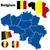 Belgique · vecteur · détaillée · pays · forme - photo stock © tuulijumala