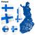 Финляндия · вектора · набор · подробный · стране · форма - Сток-фото © tuulijumala