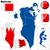 Bahrein · vector · ingesteld · gedetailleerd · land · vorm - stockfoto © tuulijumala