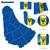 Barbados · vektor · szett · részletes · vidék · forma - stock fotó © tuulijumala