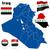 Irak · vektor · szett · részletes · vidék · forma - stock fotó © tuulijumala