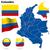 Colombia · vector · ingesteld · gedetailleerd · land · vorm - stockfoto © tuulijumala