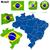 Brazilië · vector · ingesteld · gedetailleerd · land · vorm - stockfoto © tuulijumala