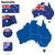Australië · vector · ingesteld · gedetailleerd · land · vorm - stockfoto © tuulijumala