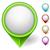 conjunto · mapa · pin · assinar · localização · ícone - foto stock © tuulijumala
