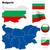 Болгария · вектора · набор · подробный · стране · форма - Сток-фото © tuulijumala