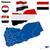 Jemen · vektor · szett · részletes · vidék · forma - stock fotó © tuulijumala