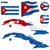 Куба · вектора · набор · подробный · стране · форма - Сток-фото © tuulijumala