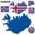 Исландия · вектора · набор · подробный · стране · форма - Сток-фото © tuulijumala