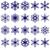 vector collection of snowflake shapes isolated on white backgrou stock photo © tuulijumala
