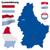 Люксембург · вектора · набор · подробный · стране · форма - Сток-фото © tuulijumala