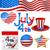 résumé · drapeau · américain · texture · pavillon · imprimer - photo stock © tuulijumala