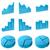 vector set of 3d graph icons isolated on white background stock photo © tuulijumala