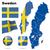 スウェーデン · ベクトル · セット · 詳しい · 国 - ストックフォト © tuulijumala