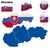 flagi · ilustracja · zestaw · kraje - zdjęcia stock © tuulijumala