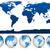aarde · globes · wereldkaart · witte · abstract · vector - stockfoto © tuulijumala