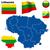 Litvánia · vektor · szett · részletes · vidék · forma - stock fotó © tuulijumala