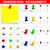 conjunto · escritório · ilustração · diferente · cores · escolas - foto stock © tuulijumala