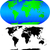 mapa · colorido · países · américa · Canadá - foto stock © tuulijumala